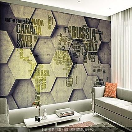 Wapel Map Wallpaper for Living Room 3D Wall Mural Tv Setting ...