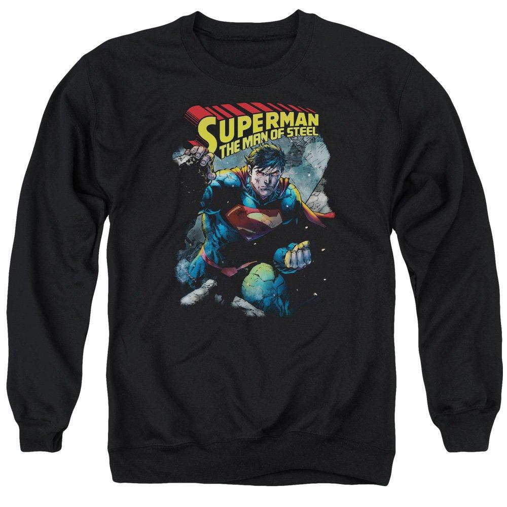 Superman Männer durch den Schutt-Pullover