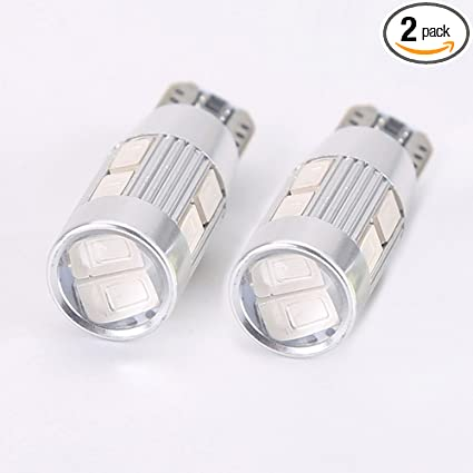 2-pack T10 LED Light bulb 5W 6000K DZSLED License Plate Lights Car Interior  Lights Wedge LED Bulbs for Side Marker Light circuit board decodes (green)