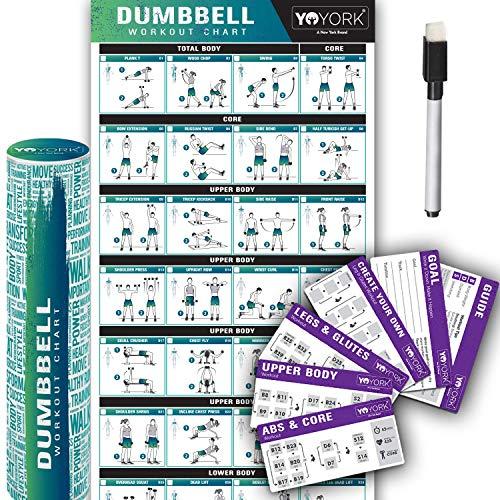 Yoyork Workout Posters Dumbbell Training product image