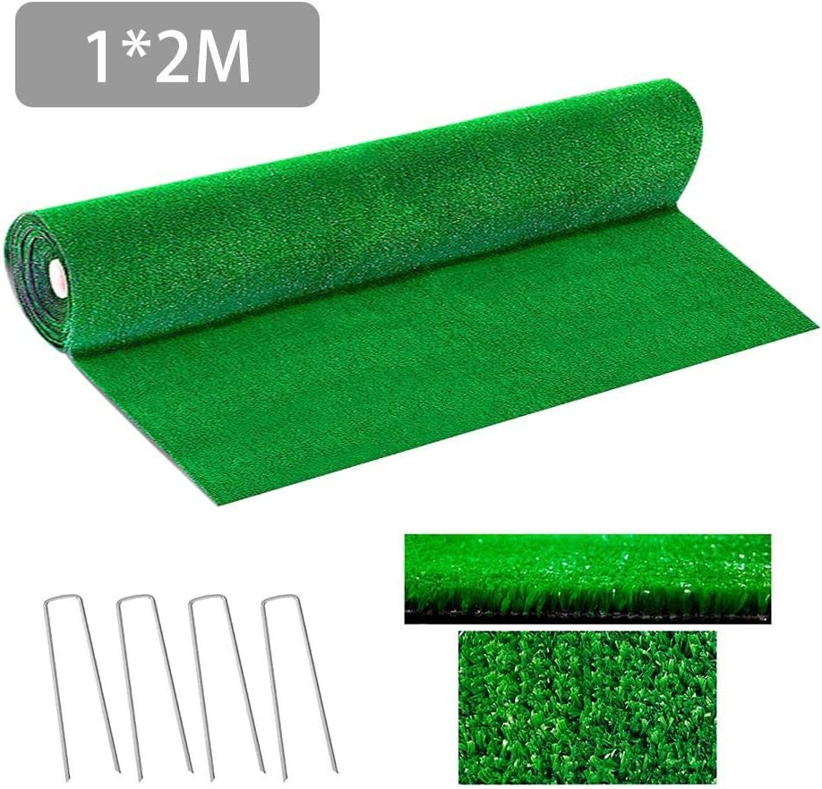 Premium Synthetic Artificial Grass Turf Size Synthetic Drainage Grass Simulation Artificial Turf Set Natural and Realistic Looking Garden Pet Dog Lawn