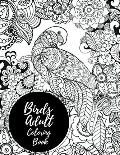 Amazon.com: Birds Adult Coloring Book: African Themed. Large ...