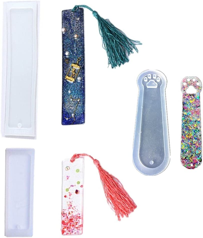 Silicone Bookmark Mold Epoxy Resin Casting Jewelry Making Mould Craft Supplies