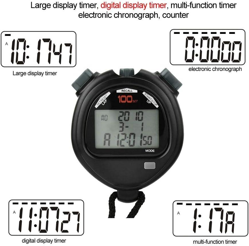 YiGaTech Timer Cronometro Sport Multi-Funzione Elettronica Digitale Cronografo Batterie Incluse