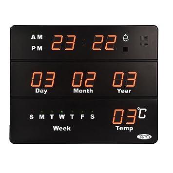 Semaine 45 Calendrier.Weidali 304a Enorme Calendrier Numerique Horloge Murale
