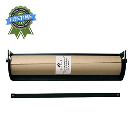 "thinkScroll 24"" Wall-Mounted Kraft or Butcher Paper Roll Holder/Dispenser (Bracket"