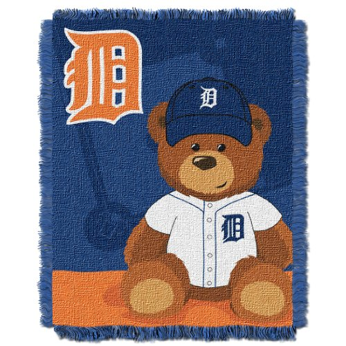 - The Northwest Company MLB Detroit Tigers Field Bear Woven Jacquard Baby Throw, 36