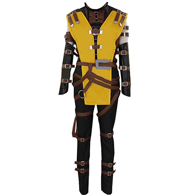 Amazon.com: AGLAYOUPIN Mens Yellow Ninja Cosplay Costume ...
