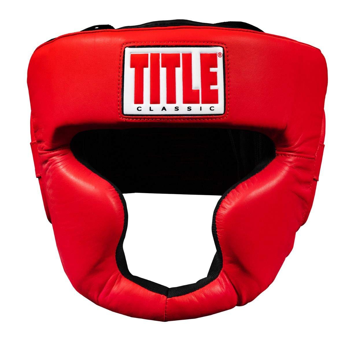 Title Boxing Classic Coverage Headgear 2.0 Black Large