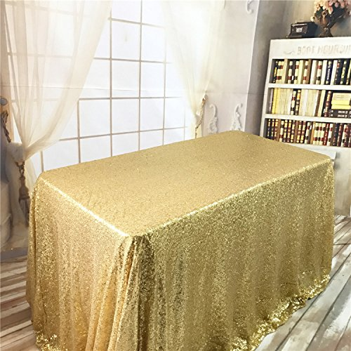 TRLYC Black Friday Sparkly Gold Sequin Tablecloth for - Tablecloth Gold