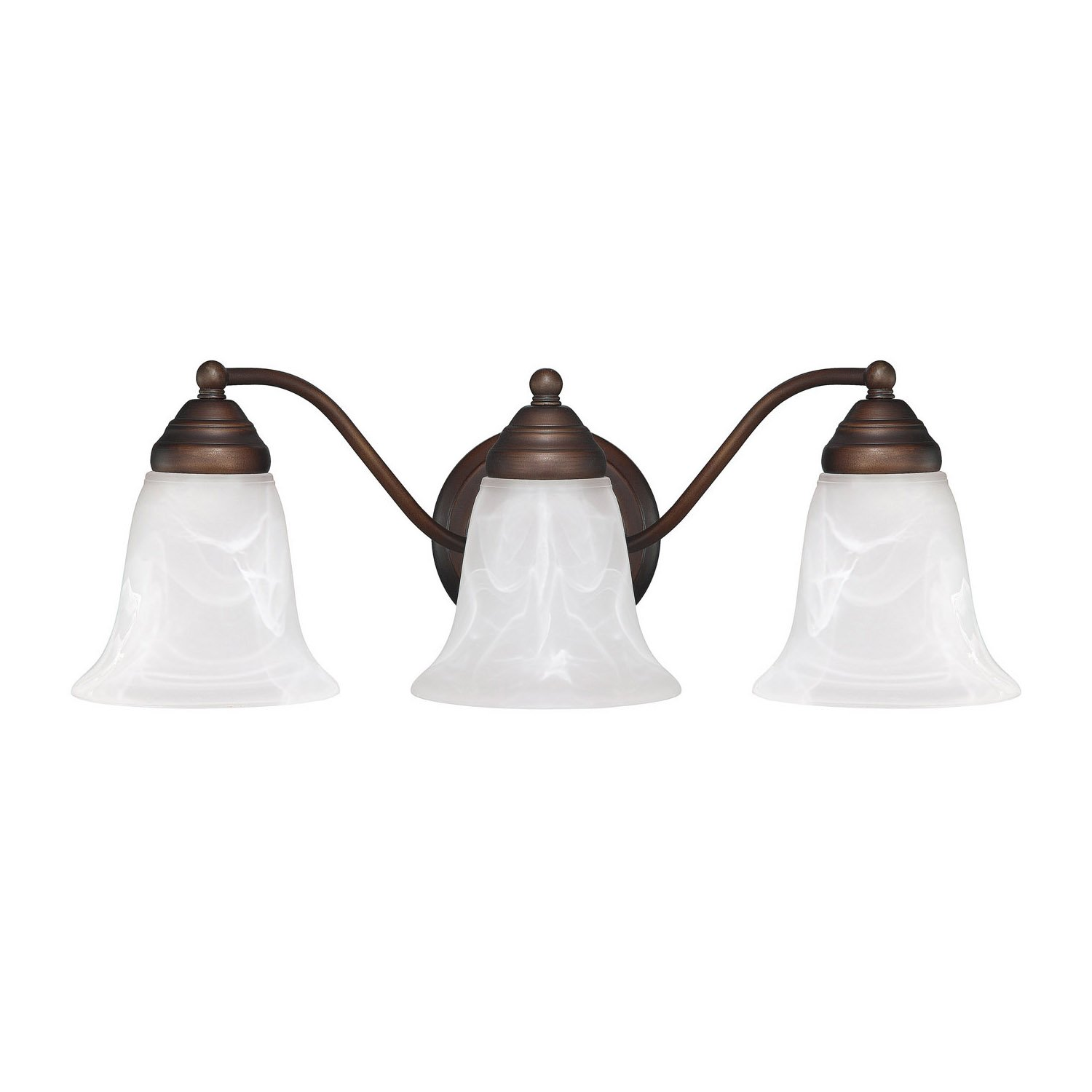 Capital Lighting 1363MN 117 Vanity with Faux White Alabaster Glass