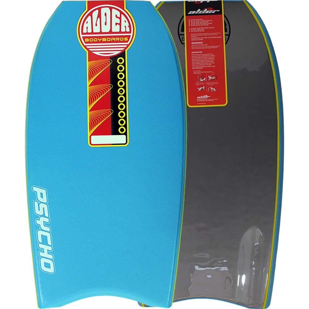 Pyscho ontano 4042bodyboard–PE Core, Crescent Tail, 50/50rotaie, in HDPE e bobina laccetto incluso, 40' Light Blue 50/50rotaie 40 Light Blue Alder