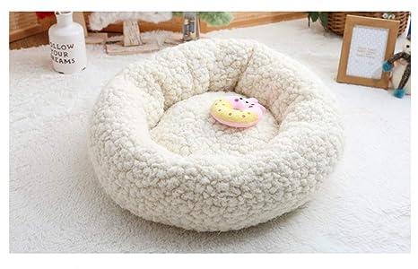 Lamzoom Deluxe Cama para Mascotas para Gatos pequeños y medianos Perros Cuddler con cojín Suave Redondo