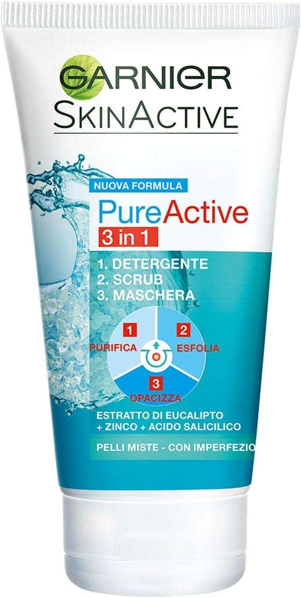 Garnier Detergente Pure Active, Azione 3 in 1