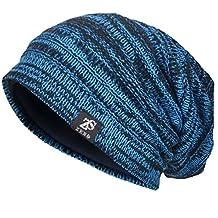 Men's Slouch Beanie Skull Cap Lined Oversize Baggy Winter Hat CFB5001