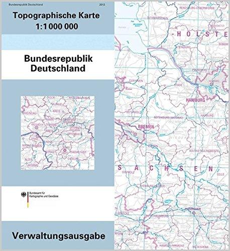 Topographische Karte Der Bundesrepublik Deutschland 1 1 000 000