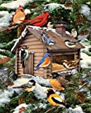 White Mountain Puzzles Log Cabin Birdhouse - 1000 Piece Jigsaw Puzzle