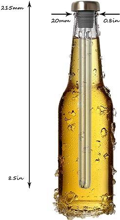 Original Regalo Enfriador de Vino y Cerveza Set de 2 - Accesorios Aireador y Vertedor, En Botella Mejor que Funda o Cubitera - Idea Día del Padre y St Patrick, Ideal Papa Hombre Novio Pareja Amigo Frikis Curiosos