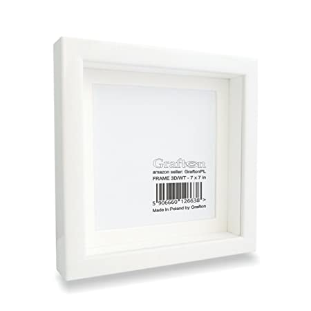 White Shadow Box Frame 3d Square Deep Frame Solid Wood Wall Photo ...