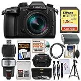 Panasonic Lumix DC-GH5 Wi-Fi 4K Digital Camera & 12-60mm f/2.8-4.0 Lens with 128GB Card + Case + Flash + Battery + Tripod + 3 Filters Kit