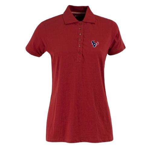 - NFL Women's Houston Texans Spark Short Sleeve Polo (Dark Red, Small)