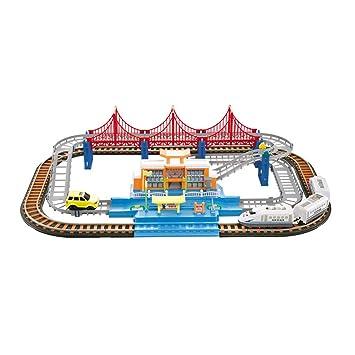 HXGL-juguete de coche Rastreo Deslizante Coche eléctrico Montaña Rusa Juguete de riel de Alta Velocidad Juego de Carga Regalo (Color : Charging, ...