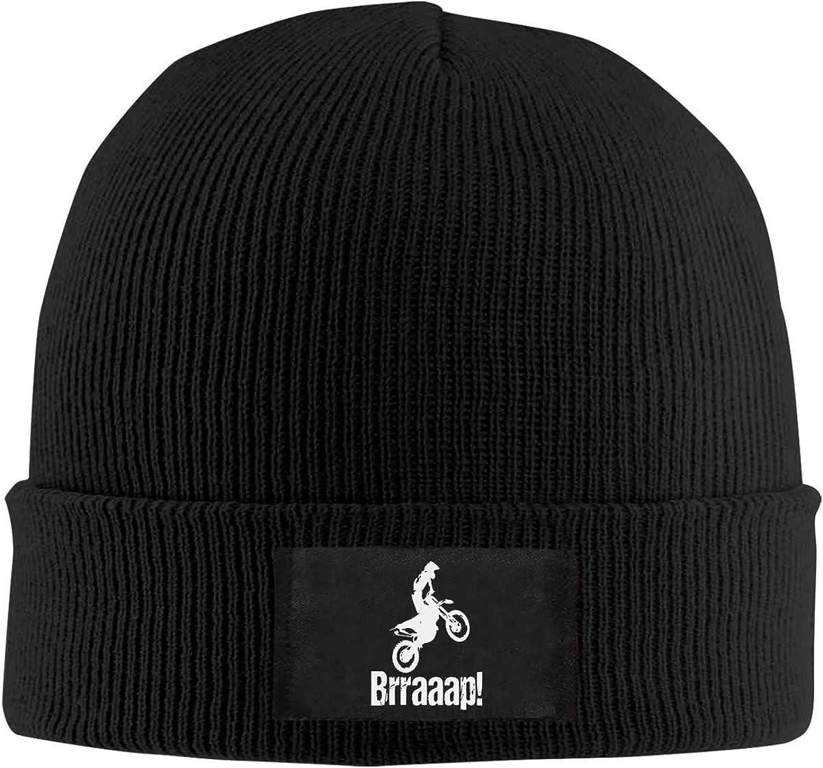 Brraaap Dirt Bike Motocross Women and Men Knitted Hat Stretchy Snowboarding Hat