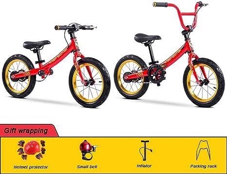 DYB Sin Pedal, Scooter de Bicicleta con Marco de Acero de Alto Carbono Dos en uno para niños Ejercicio de conducción Aprendizaje Bicicleta 2~12 años niños Juguetes: Amazon.es: Deportes y aire libre