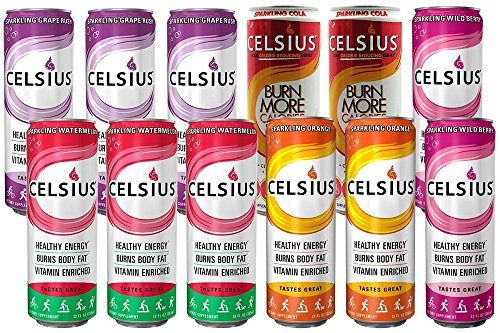 Celsius Calorie Reducing Drink, 12 Ounce Cans 611V8Vh SAL