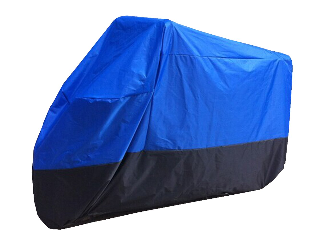 Faylapa Motorcycle Cover, All Season Outdoor Protection Cover, Waterproof, UV, Dustproof, Large Fits Most Sportbikes and Cruiser motorcycles (XL,Blue&Black)