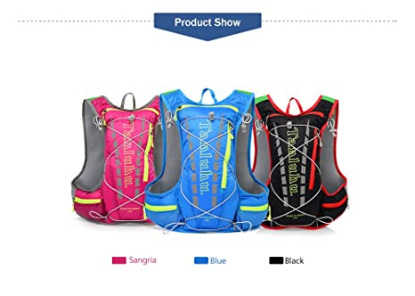 Amazon.com : TANLUHU NACATIN Water-Resistant and Breathable Hydration Backpack 15L Capacity, Adjustable Shoulder Straps for Running Cycling Hiking Climbing ...