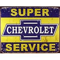 Poster Discount Desperate Enterprises Letrero de metal coleccionable del servicio Super Chevy, modelo # 1355, 17x13