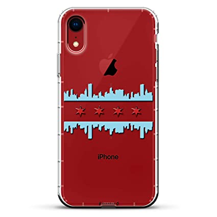 Landmarks Chicago Flag Style Skyline Luxendary Air Series Clear Case With 3d Printed Design Air Cushions For Iphone Xr
