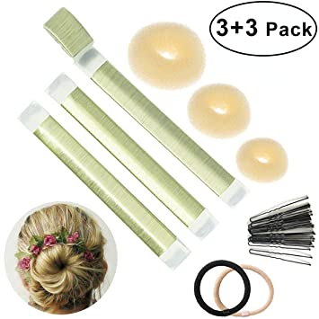 Bofekt Haar Donuts Hair Bun Maker Fur Lange Und Kurze Haare Geeignet 6 Set Haar Brotchen Dutt Band Blond Damen Fashion Hair Styling Foam French