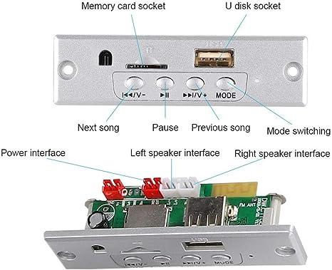 Bluetooth Speaker DIY Kit 3W Mini MP3 Music Stereo Portable Speaker Wireless Power Amplifier Speaker with Remote Control. Gray Ciglow Speaker Kit