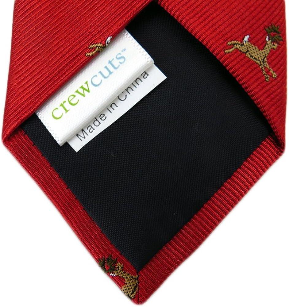 Red Crew Cuts Boys Christmas Reindeer Necktie One Size Neck Tie