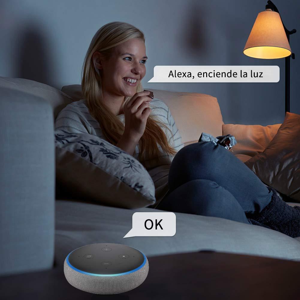 Enchufe inteligente ANOOPSYCHE, interruptor Enchufe inalámbrico compatible con Android, iOS, Alexa,Google Home, con control por Voz, programable, control a distancia, No se Requiere Hub (2 unidades)