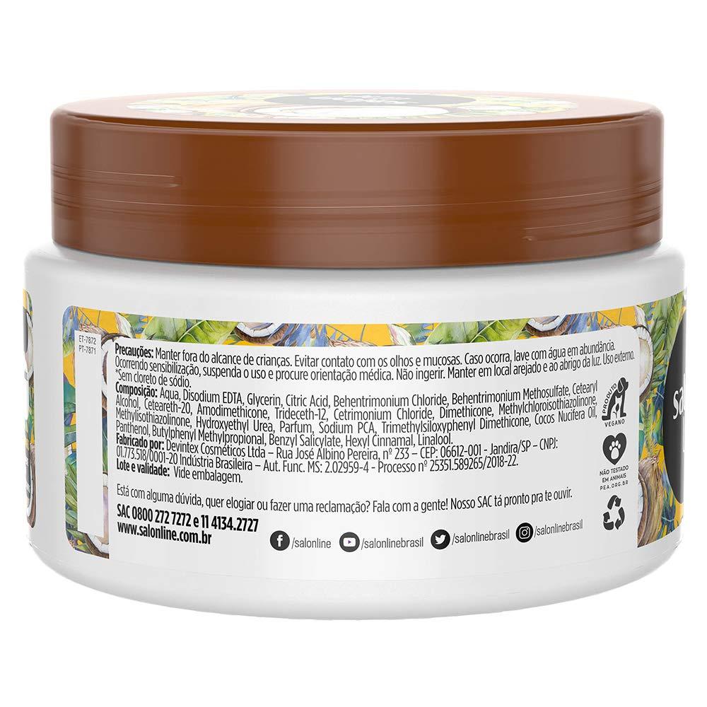 Amazon.com : Salon Line - Linha Tratamento (Meu Liso) - Mascara Coco Hidratacao 300 Gr - (Salon Line - Treatment (My Straight) Collection - Coconut ...