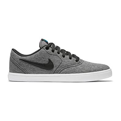 NIKE Mens SB Check Solar Cnvs Shoes Black Black White Photo Blue Size 7