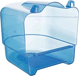 Trixie Transparent Plastic Bird Bath for Parakeets, Canaries, and Finches