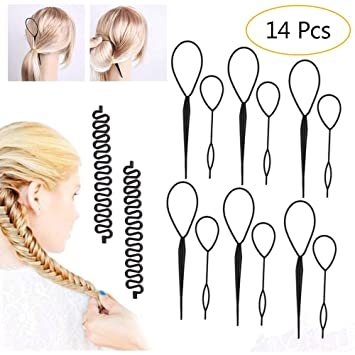 4 Pcs SET Topsy Tail Hair Braid Ponytail Maker Styling Tool Hair Accessory