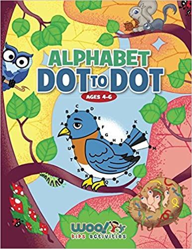 Alphabet Dot To Dot Ages 4 6 Reproducible Worksheets For Preschool