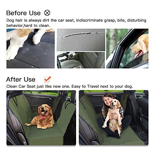 Dog Seat Cover Car Seat Covers for Pets With Storage bag- Nonslip Backing, 600D Waterproofand Hammock Style Easy to Clean and Install for Cars, Trucks and Suv's by YonRui (Image #4)