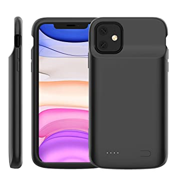 Casewin Funda Bateria para iPhone 11 6.1 Inch, 5000mAh Li-Polymer Batería Externa Recargable Backup Charger Carcasa Portátil Power Bank Case ...