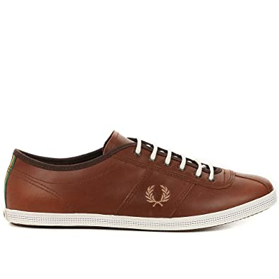 FRED PERRY - Basket Fred Perry Hayes Unlined Leather Bradley Wiggins Marron  3 6d959e03c986