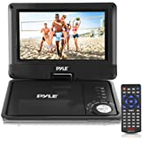 Pyle 9-Inch Portable DVD and CD Player - Built-in Rechargeable Battery, Dual Full Range Speaker, USB/SD, Headphone Jack, Remote Control w/ Cigarette Lighter Car Charger PDV905BK