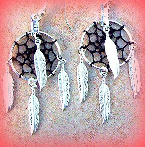 Amazon Silver Dream Catcher EarringsFULL MOON ECLIPSE Dream Awesome Do Dream Catchers Get Full