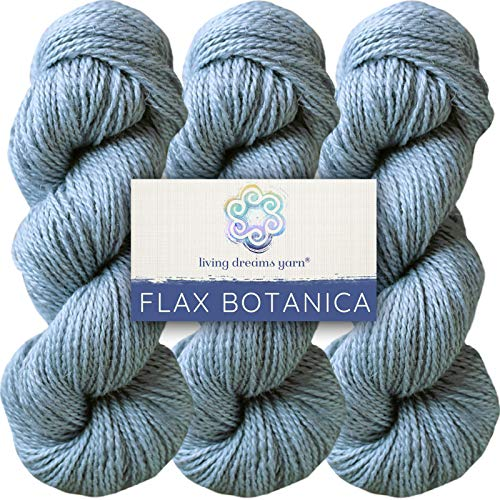 Living Dreams Flax Botanica DK Yarn. Elegant Merino Linen Silk. Cruelty Free & Responsibly Sourced. Pacific Northwest Handmade. Bulk Discount Pack, Dove