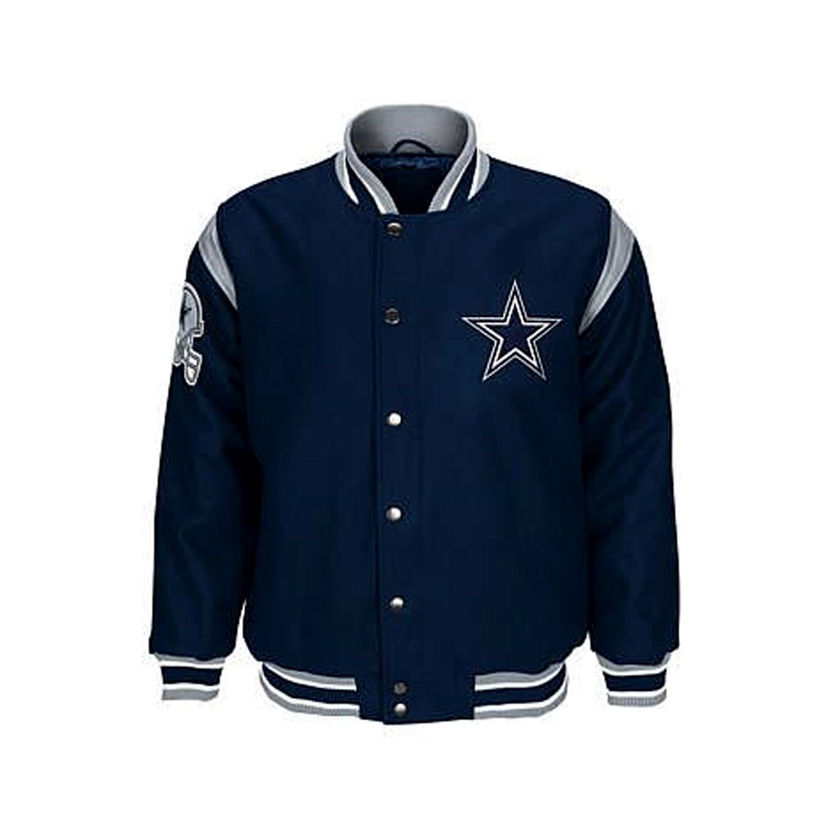 Amazon.com   Dallas Cowboys Jacket Cowboys Leather Wool Coat NFL Apparel  (XXL)   Sports   Outdoors e22ac63a1
