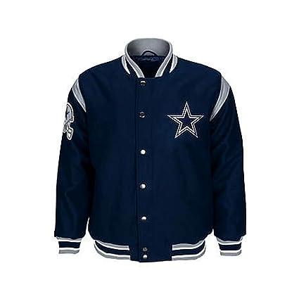 Amazon.com   Dallas Cowboys Jacket Cowboys Leather Wool Coat NFL ... 2a6c5829f
